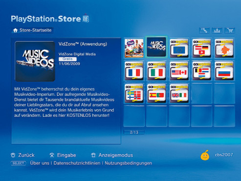 Download in der VidZone