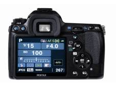 Monitor und Bedienelemente der Pentax K-7