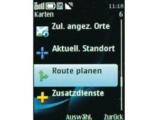 Menü Routenplanung Nokia 6700 Classic