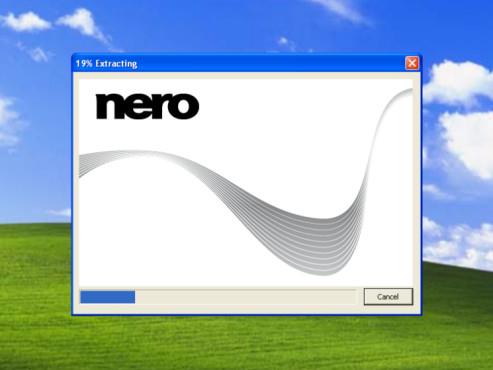 Nero 9 Free: Entpacken