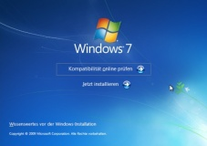 Windows 7 Installation&nbsp;&copy;&nbsp;COMPUTER BILD