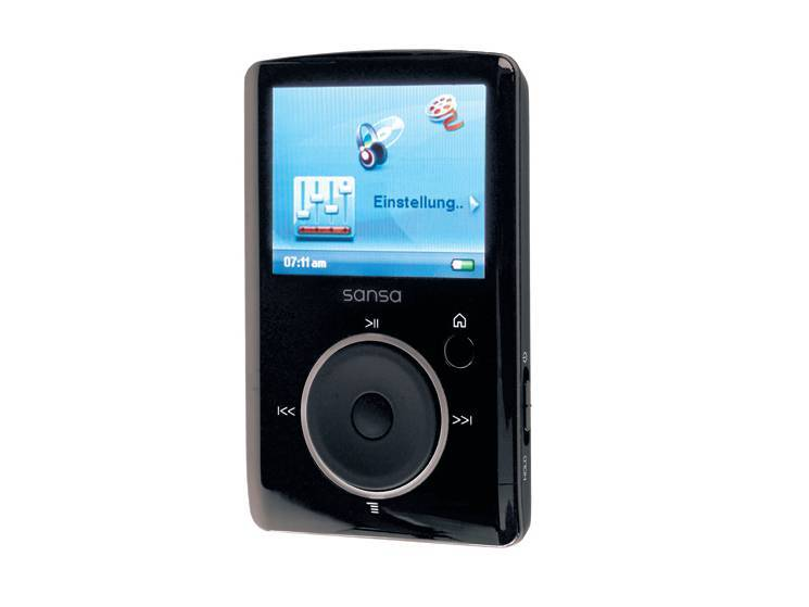 test mp3 player sandisk sansa fuze 8 gb audio video. Black Bedroom Furniture Sets. Home Design Ideas