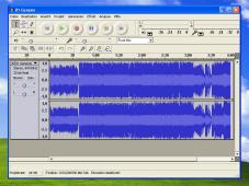 Musikeditor Audacity: Programm�berfl�che
