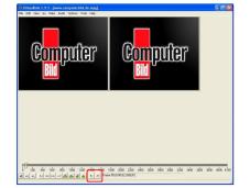 DivX-Videos schneiden Mit den beiden Haken-Symbolen markieren sie den Anfang und das Ende eines Abschnitts.