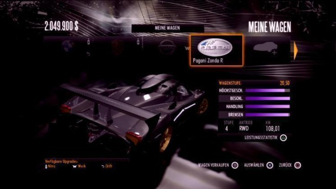 Rennspiel Need for Speed – Shift: Pagani Zonda R