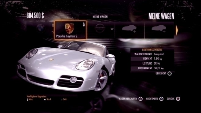 Rennspiel Need for Speed – Shift: Porsche Cayman S