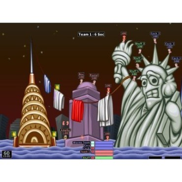 Actionspiel Worms Armageddon: Screenshot