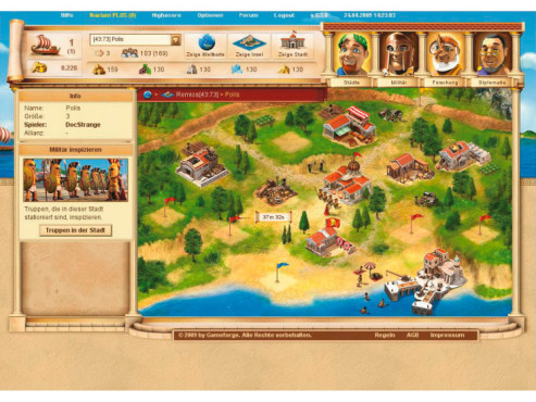 Onlinespiel Ikariam: Screenshot