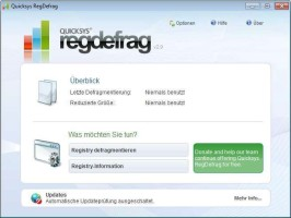 Screenshot 1 - Quicksys RegDefrag Portable