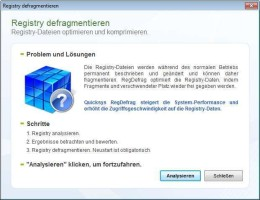 Screenshot 2 - Quicksys RegDefrag Portable