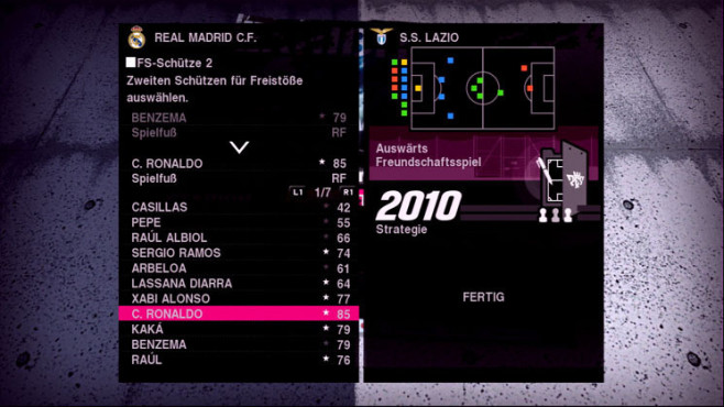 Fu�ballspiel Pro Evolution Soccer 2010: Standards