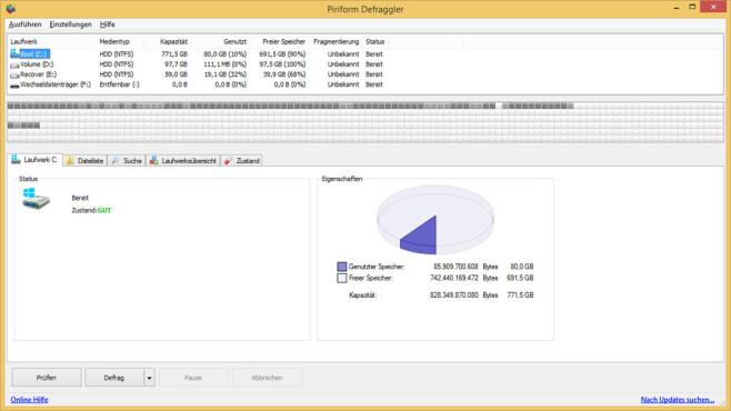 Defraggler: Festplatte defragmentieren ©COMPUTER BILD