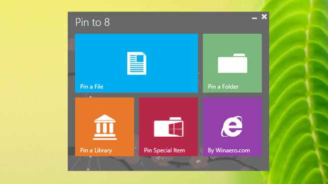 Pin to 8: Dateien ins neue Startmen� bef�rdern ©COMPUTER BILD