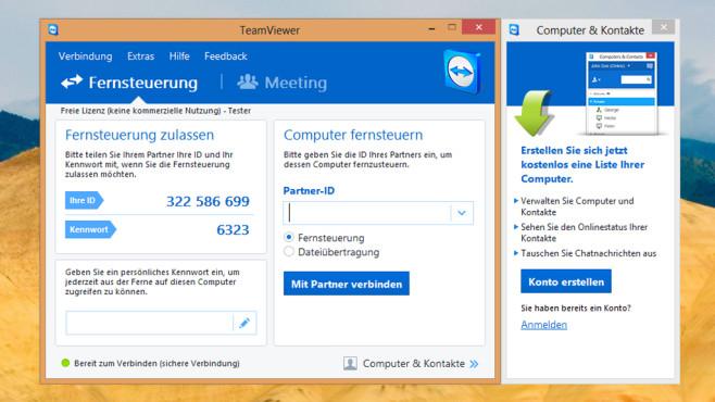 TeamViewer: PC aus der Ferne bedienen ©COMPUTER BILD