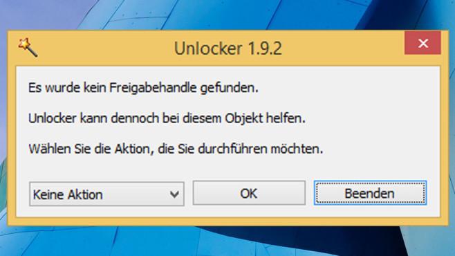 Unlocker: Gesperrte Dateien l�schen ©COMPUTER BILD