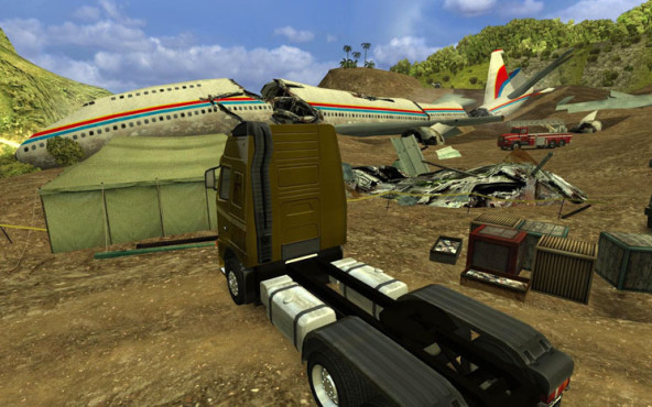 18 Wheels of Steel – Extreme Trucker: Flugzeug
