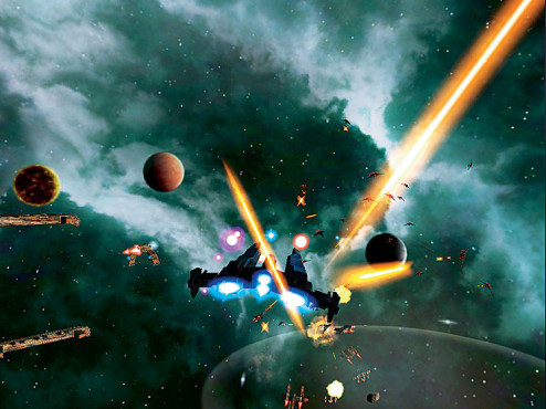 Actionspiel: Galaxy on Fire 2 © Fishlabs