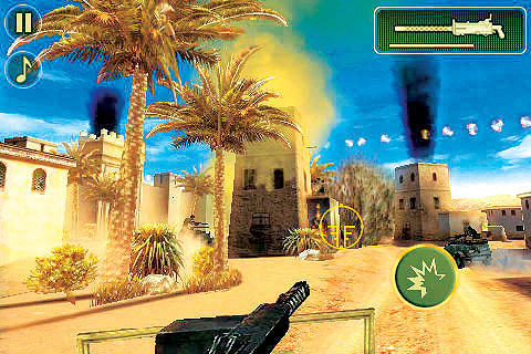 Actionspiel für iPhone und iPod Touch Brothers in Arms 2 © Gameloft
