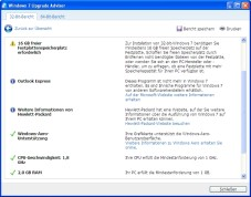 Windows 7 Upgrade Advisor: Der �Windows 7 Upgrade Advisor� untersucht, ob sich Ihr Computer f�r Windows 7 �eignet�.