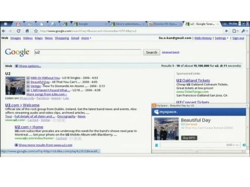 Google Chrome OS Musikwiedergabe