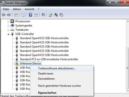 Windows 7: Geräte-Manager