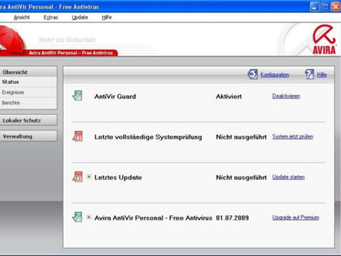 Avira AntiVir Personal © Screenshot