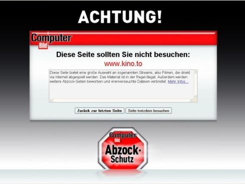 COMPUTER BILD-Abzock-Schutz ©Screenshot