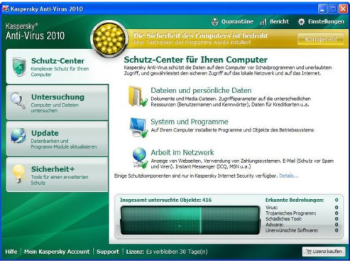 Kaspersky Anti-Virus 2010 © Screenshot