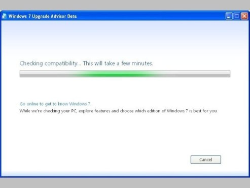 Windows 7 Upgrade Advisor © Screenshot