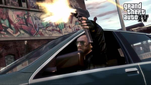 Actionspiel Grand Theft Auto 4: Uzi
