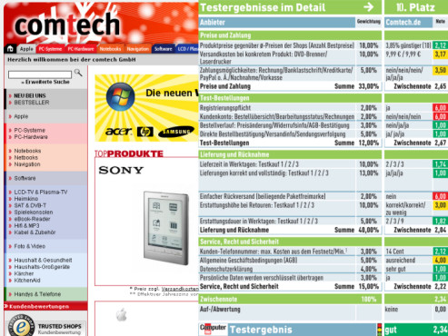 Comtech.de: Internet-Shop