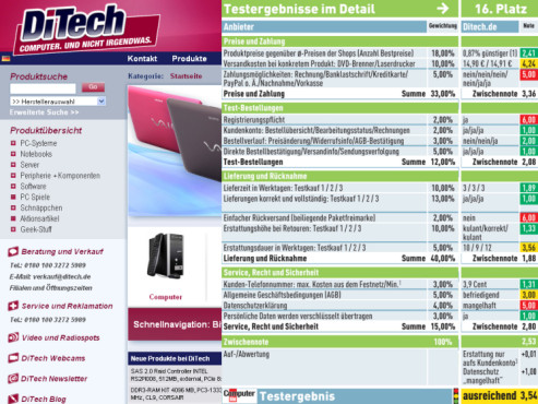 Ditech.de: Internet-Shop