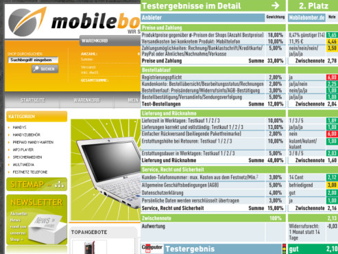 Mobilebomber.de: Internet-Shop