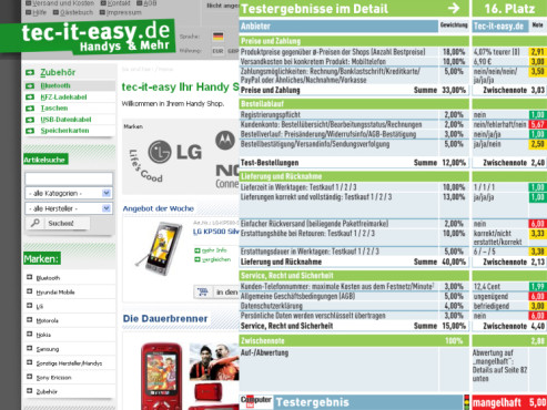 Tec-it-easy.de: Internet-Shop