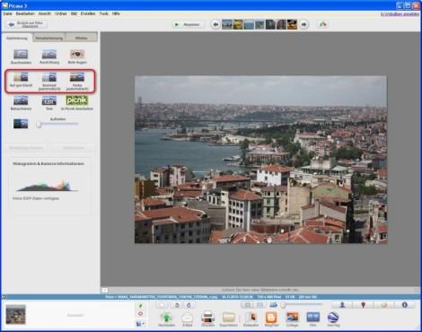 Picasa: Bilder optimieren