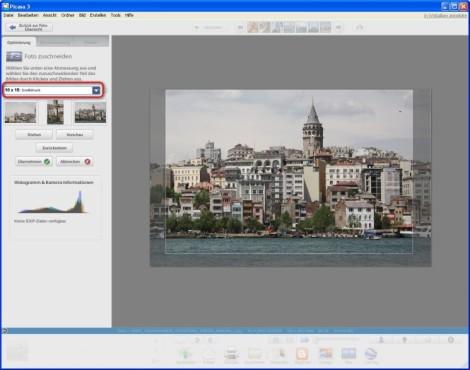 Picasa: Foto zuschneiden