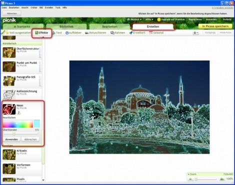 Picasa: Fotos mit Effekten aufpeppen