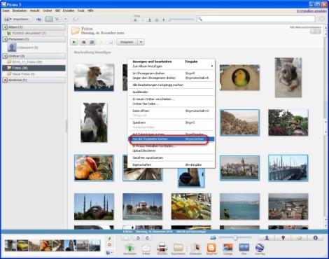 Picasa: Ein oder mehrere Bilder vom Rechner entfernen