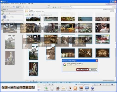Picasa: Fotos und Grafiken in andere Ordner verschieben