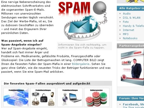 Spam-Experiment