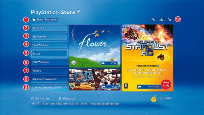 Playstation Store: Hauptseite ©Computer Bild