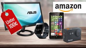 Technik-Gadgets bis 100 ©istock.com/Sezeryadigar, Amazon, LG, Rollei, Microsoft, Asus