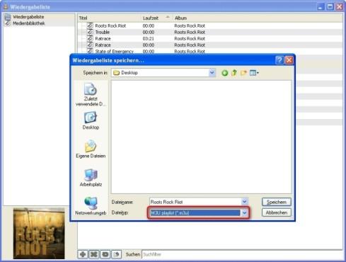 """VLC Media Player: Abspielliste im Format """"M3U"""" ablegen"""