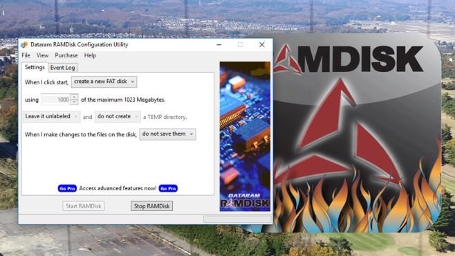 Dataram RAM-Disk: Spuren beim Herunterfahren tilgen ©COMPUTER BILD