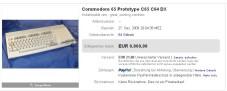 18 Jahre alter Computer bringt 6.060 Euro Der C65 von Commodore ging nie in Serienproduktion (Abbildung: Ebay/Nutzer �macxl�).