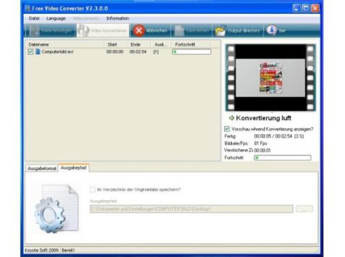 Free Video Converter ©COMPUTER BILD