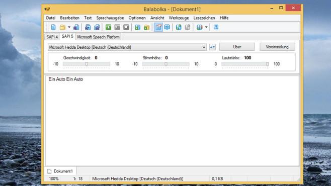 Balabolka: Text vorlesen lassen ©COMPUTER BILD