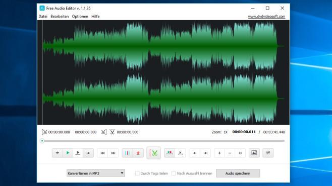 Free Audio Editor: Klänge individuell zurechtstutzen ©COMPUTER BILD