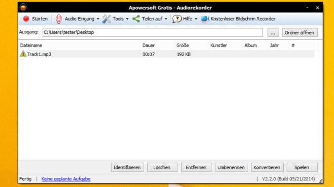 Free Audio Recorder: Sounds aufnehmen ©COMPUTER BILD