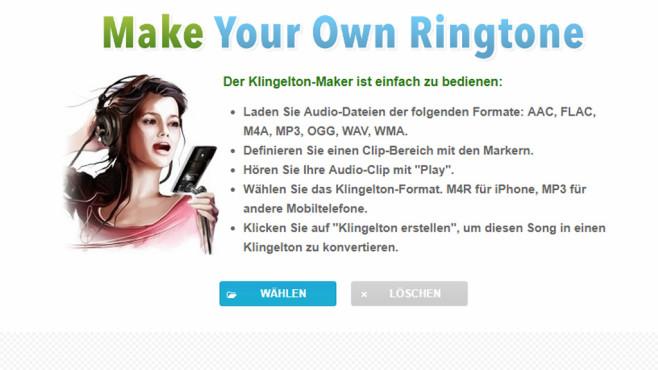 Klingelton erstellen und konvertieren (Make Your Own Ringtone) ©COMPUTER BILD